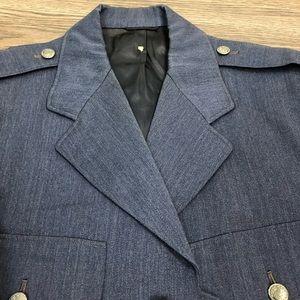 Lauterstein's Suits & Blazers - 1950s Korean War USAF Air Force Blue Suit 38L